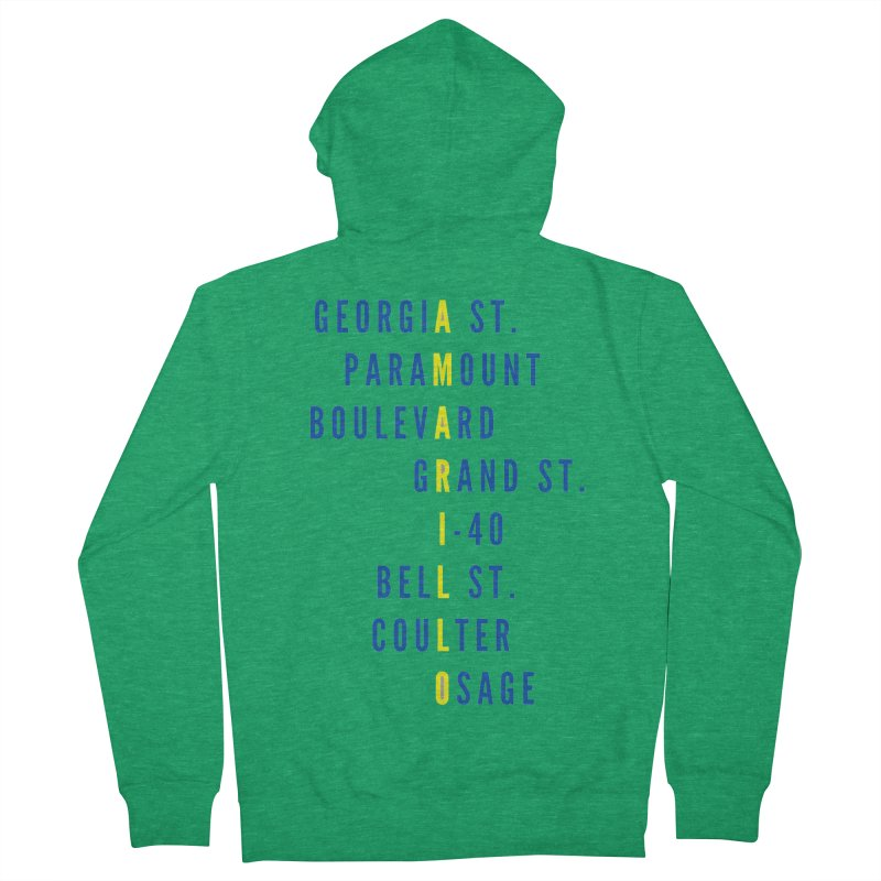 Amarillo Street Names Women's Zip-Up Hoody by townsquareamarillo's Artist Shop