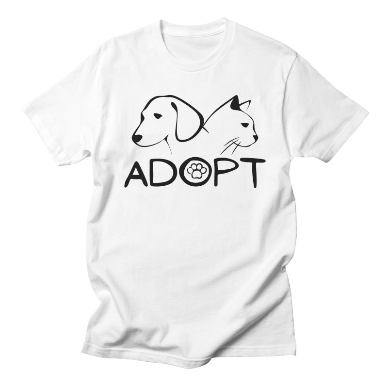 SPCA Adopt Shirt 2 Men's T-Shirt by townsquareamarillo's Artist Shop