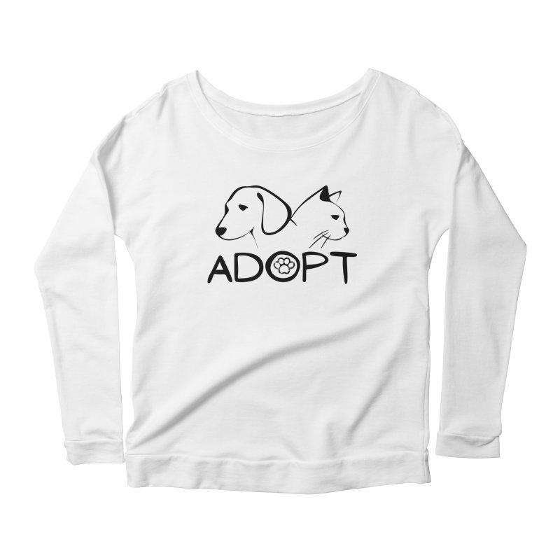 SPCA Adopt Shirt 2 Women's Longsleeve T-Shirt by townsquareamarillo's Artist Shop