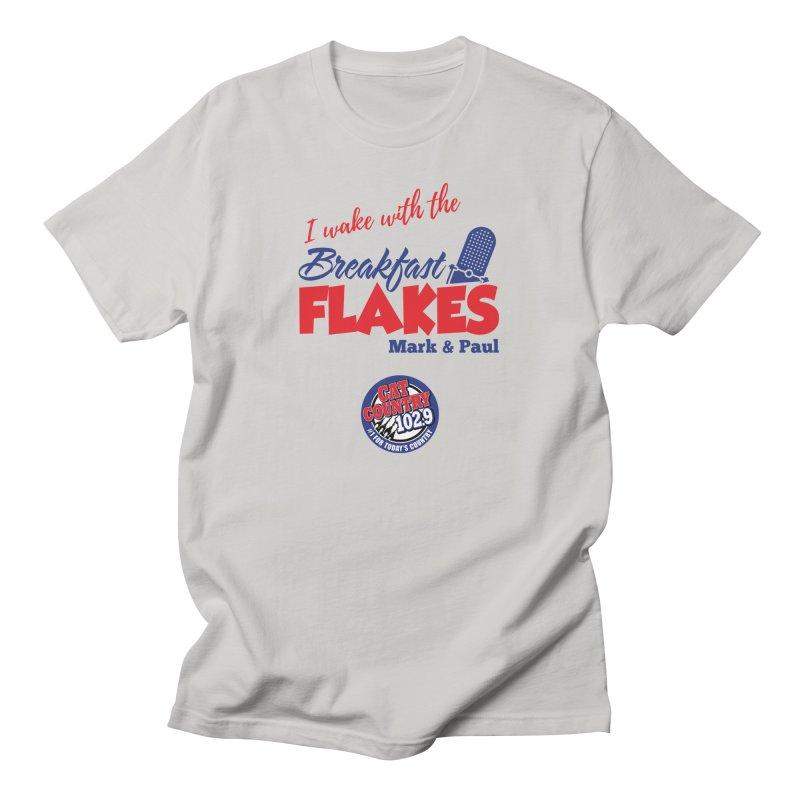 Breakfast Flakes - Cat Country102.9 Men's T-Shirt by townsquarebillings's Artist Shop