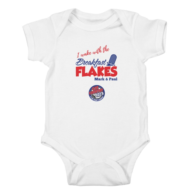 Breakfast Flakes - Cat Country102.9 Kids Baby Bodysuit by townsquarebillings's Artist Shop
