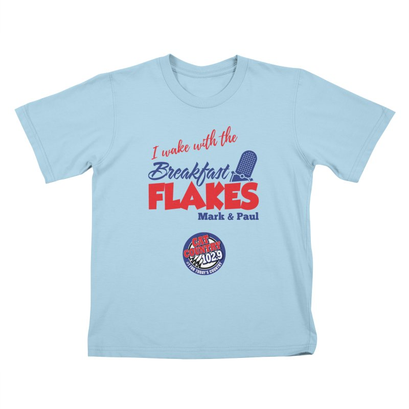Breakfast Flakes - Cat Country102.9 Kids T-Shirt by townsquarebillings's Artist Shop