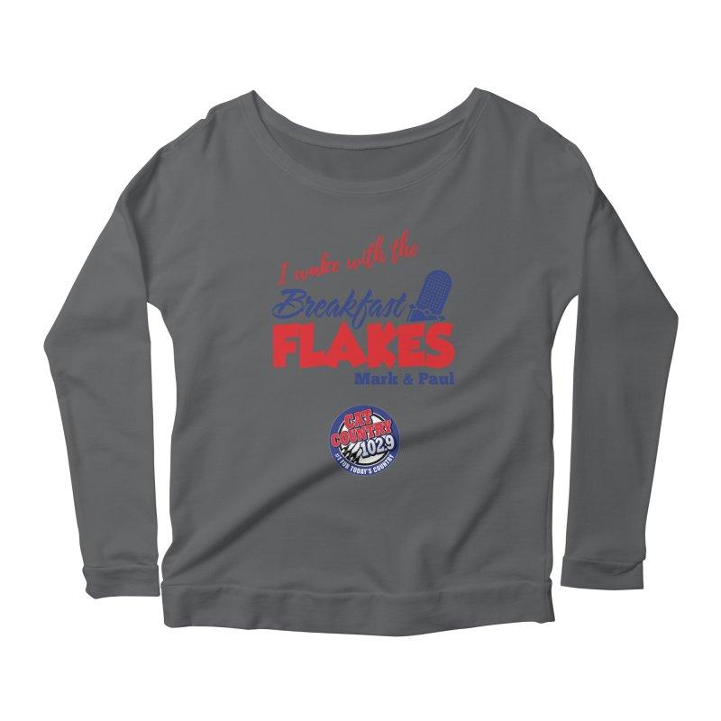 Breakfast Flakes - Cat Country102.9 Women's Longsleeve T-Shirt by townsquarebillings's Artist Shop