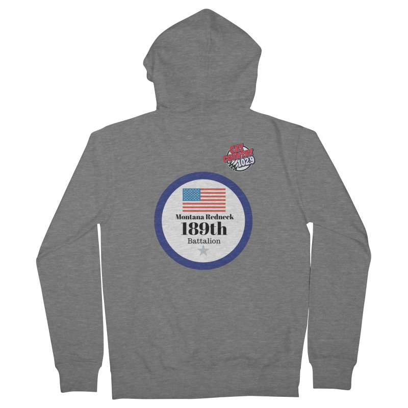 189th Montana Redneck Battalion Men's Zip-Up Hoody by townsquarebillings's Artist Shop