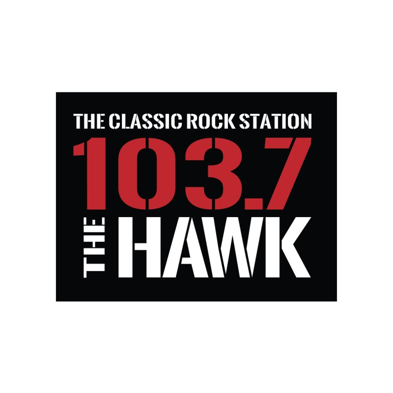103.7 the Hawk Classic Rock Shirt Men's T-Shirt by townsquarebillings's Artist Shop