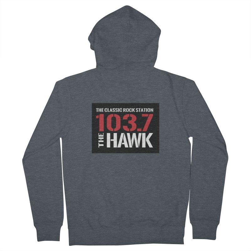 103.7 the Hawk Classic Rock Shirt Men's Zip-Up Hoody by townsquarebillings's Artist Shop