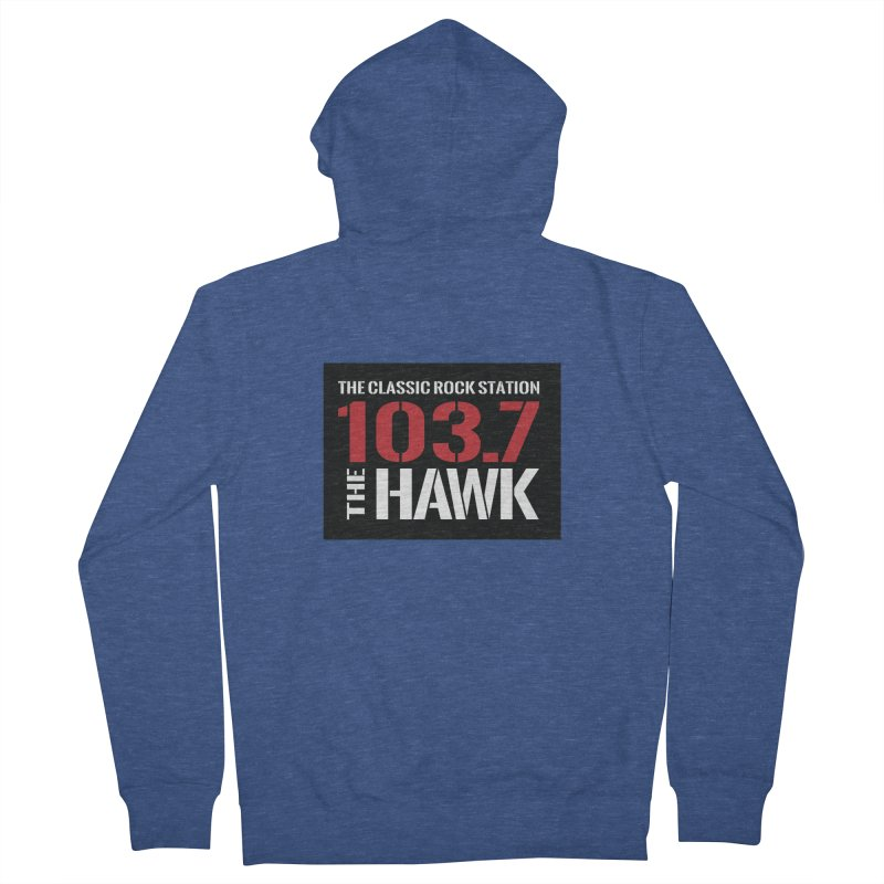 103.7 the Hawk Classic Rock Shirt Men's Zip-Up Hoody by townsquarebillings's Artist Shop