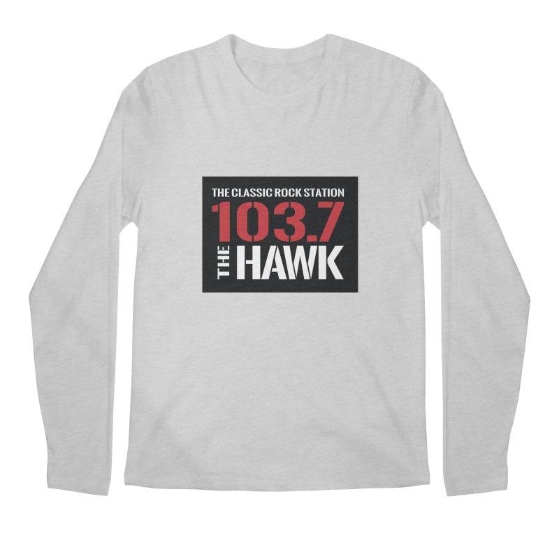 103.7 the Hawk Classic Rock Shirt Men's Longsleeve T-Shirt by townsquarebillings's Artist Shop