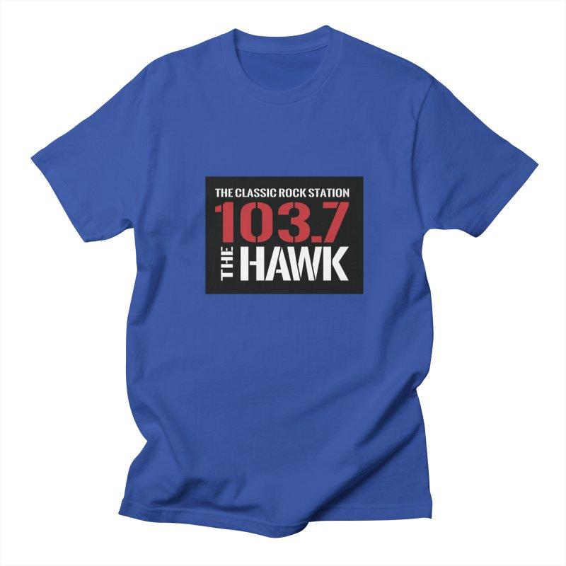 103.7 the Hawk Classic Rock Shirt Men's T-Shirt by townsquarebillings's Artist Shop