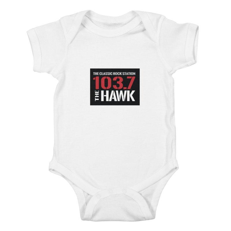 103.7 the Hawk Classic Rock Shirt Kids Baby Bodysuit by townsquarebillings's Artist Shop