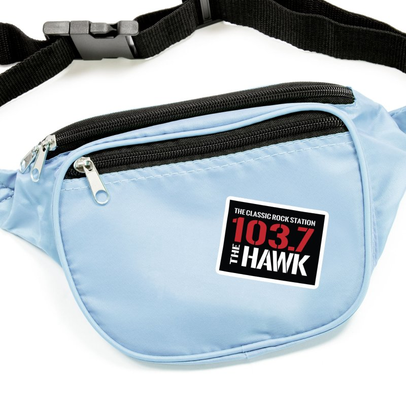 103.7 the Hawk Classic Rock Shirt Accessories Sticker by townsquarebillings's Artist Shop