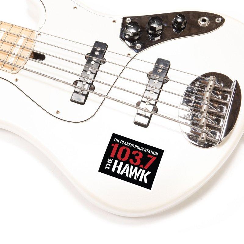 103.7 the Hawk Classic Rock Shirt Accessories Sticker by townsquarebillings's Artist Shop