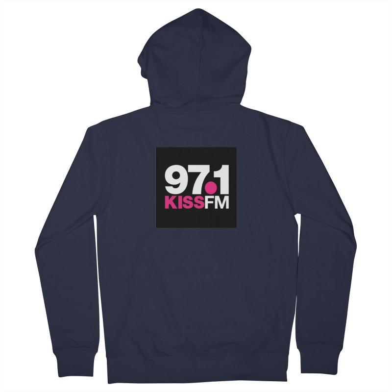 97.1 KISS FM Women's Zip-Up Hoody by townsquarebillings's Artist Shop