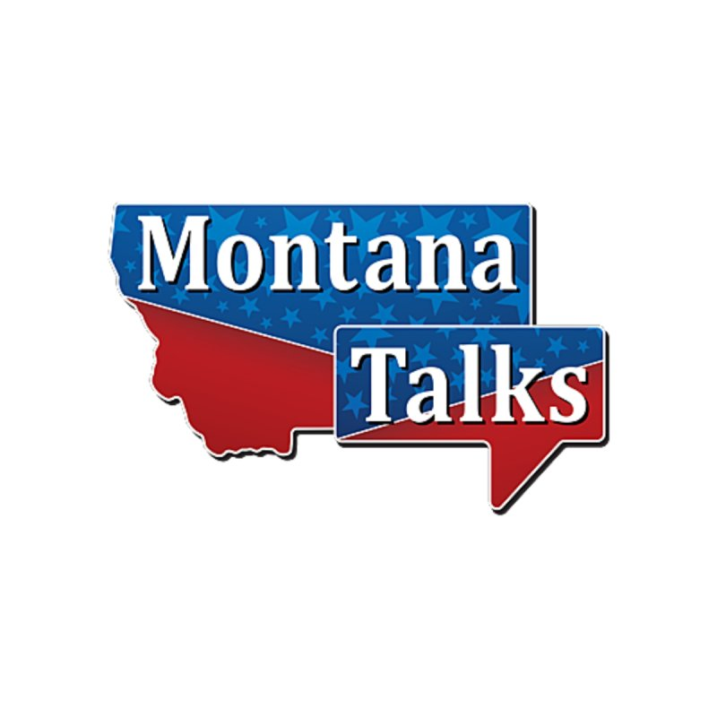 Montana Talks Women's V-Neck by townsquarebillings's Artist Shop
