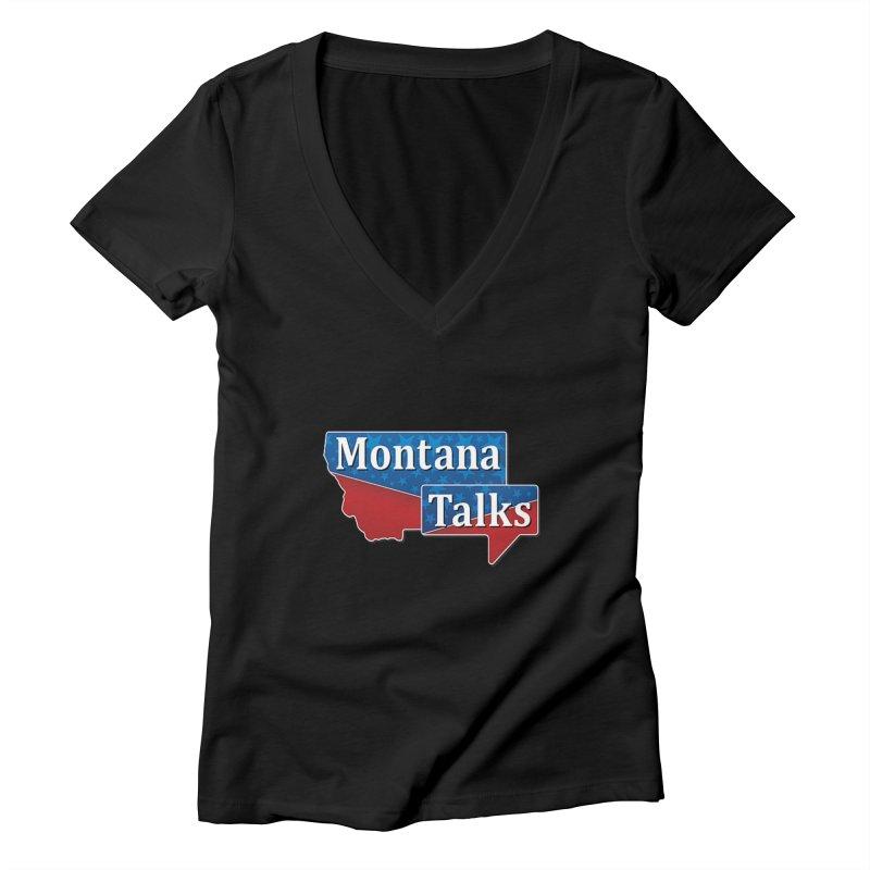 Montana Talks Women's V-Neck by townsquarebillings's Artist Shop