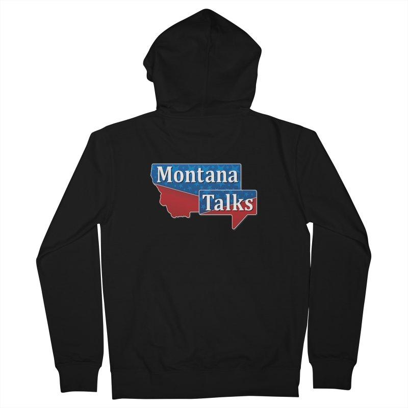 Montana Talks Men's Zip-Up Hoody by townsquarebillings's Artist Shop