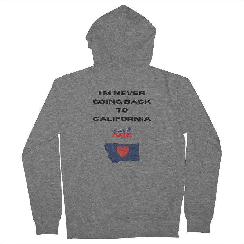 Breakfast Flakes Never California Men's Zip-Up Hoody by townsquarebillings's Artist Shop