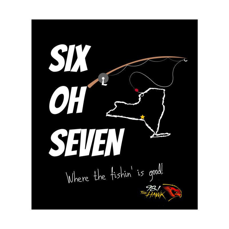 Six Oh Seven Where the Fishin' is Good Men's T-Shirt by townsquarebinghamton's Artist Shop