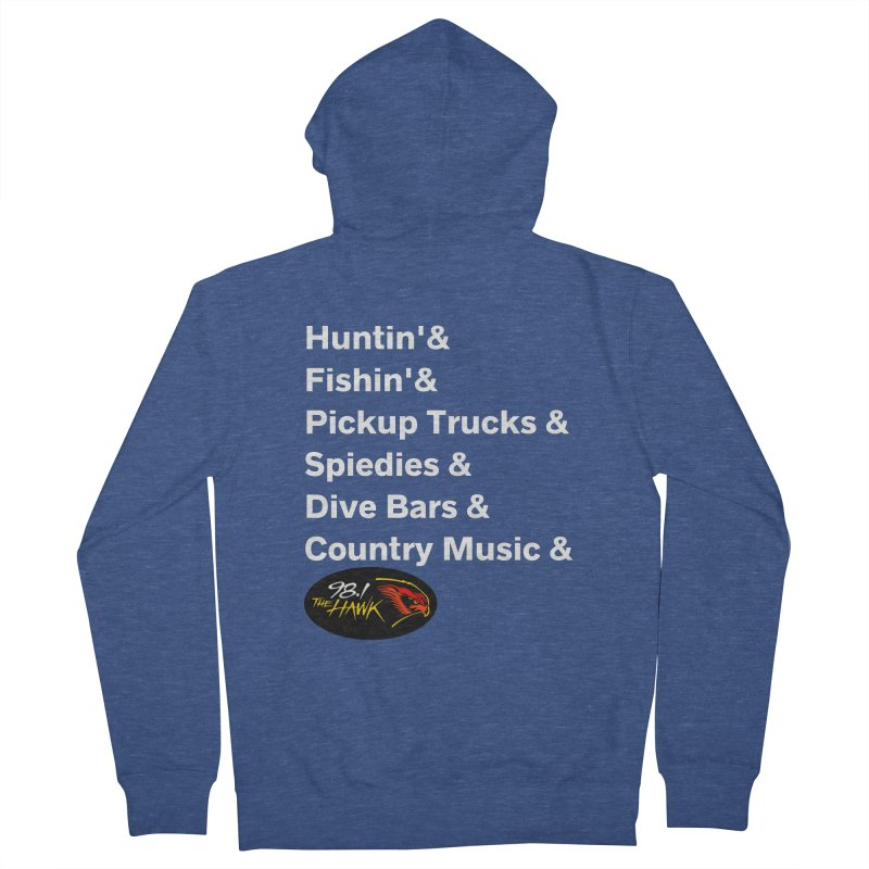 Binghamton List Shirt - 98.1 The Hawk Men's Zip-Up Hoody by townsquarebinghamton's Artist Shop