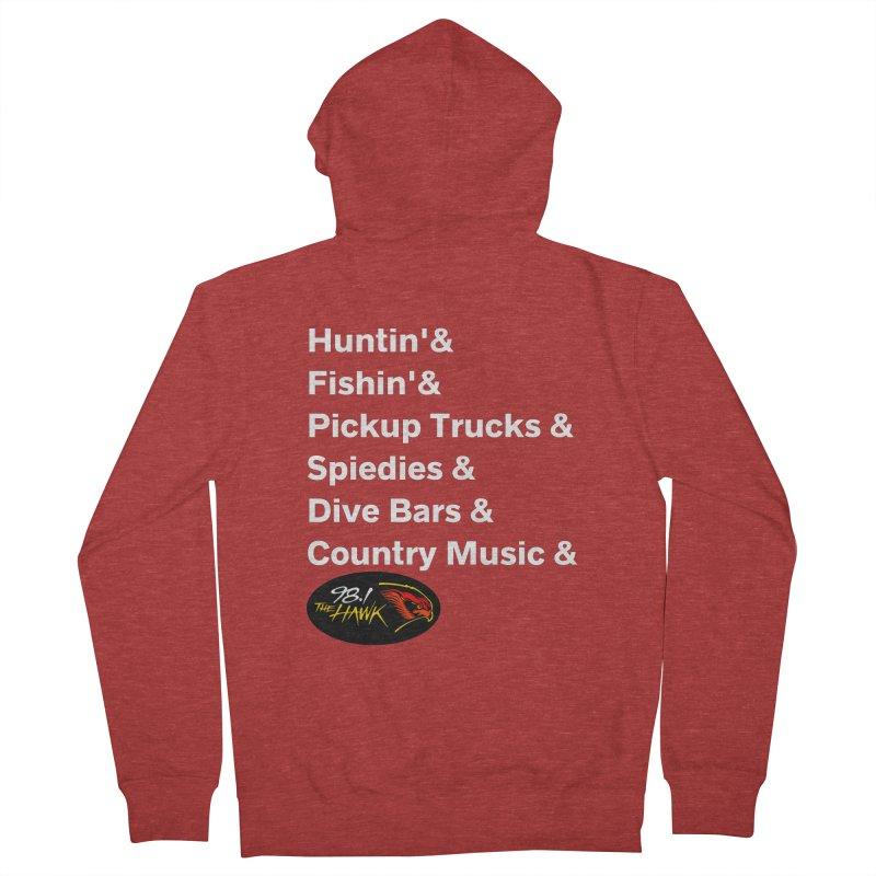 Binghamton List Shirt - 98.1 The Hawk Men's Zip-Up Hoody by townsquarebinghamton's Artist Shop