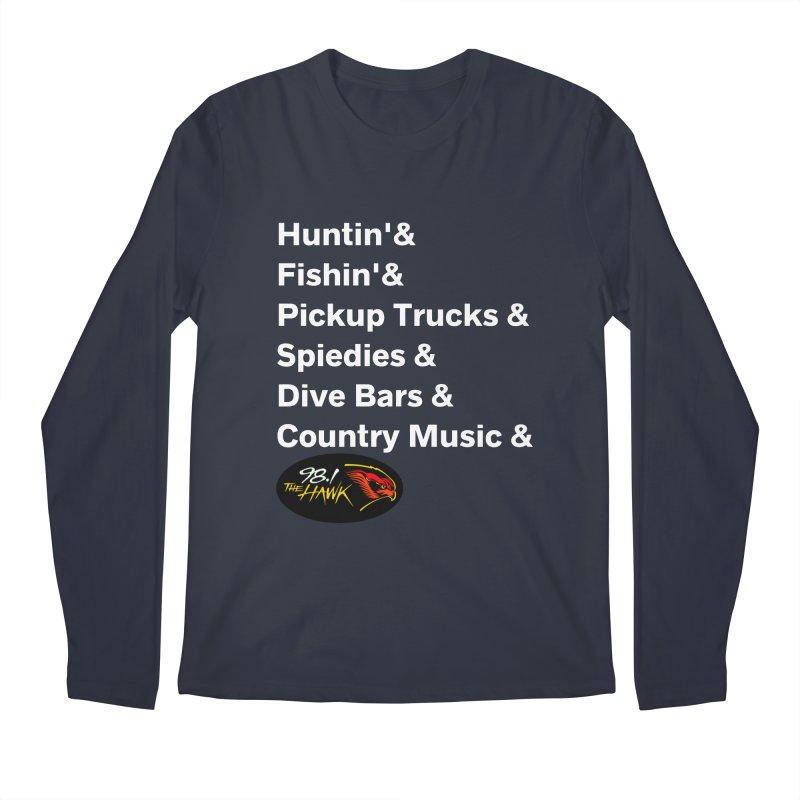 Binghamton List Shirt - 98.1 The Hawk Men's Longsleeve T-Shirt by townsquarebinghamton's Artist Shop
