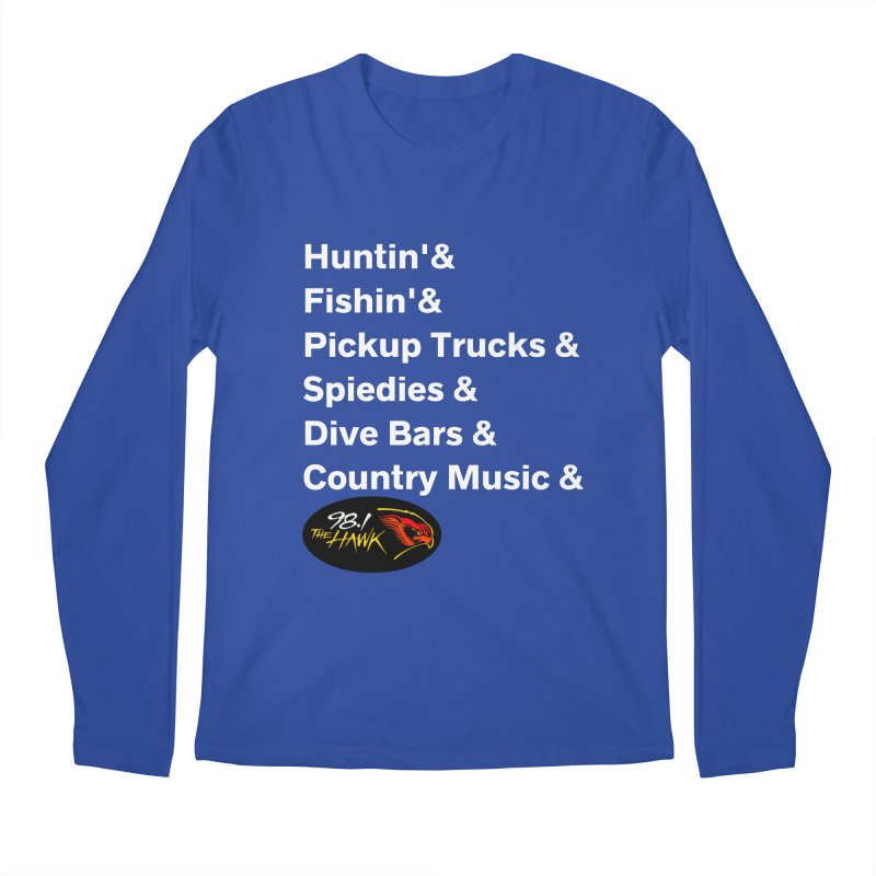 Binghamton List Shirt - 98.1 The Hawk Men's Longsleeve T-Shirt by townsquarebinghamton's Artist Shop