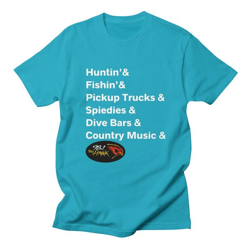 Binghamton List Shirt - 98.1 The Hawk Men's T-Shirt by townsquarebinghamton's Artist Shop