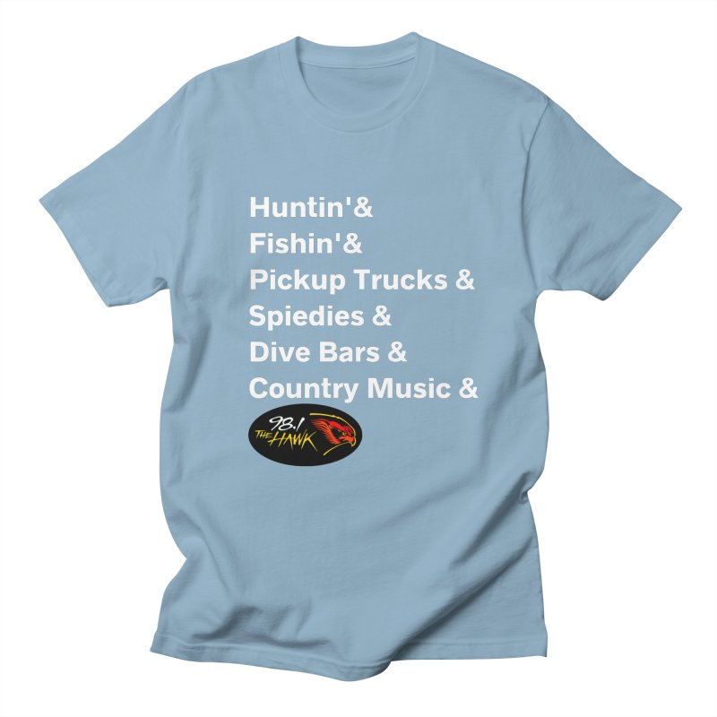 Binghamton List Shirt - 98.1 The Hawk Men's T-Shirt by townsquarebinghamton's Artist Shop