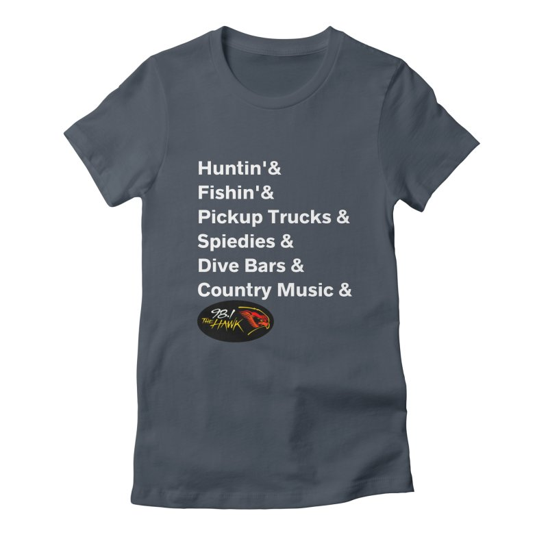Binghamton List Shirt - 98.1 The Hawk Women's T-Shirt by townsquarebinghamton's Artist Shop