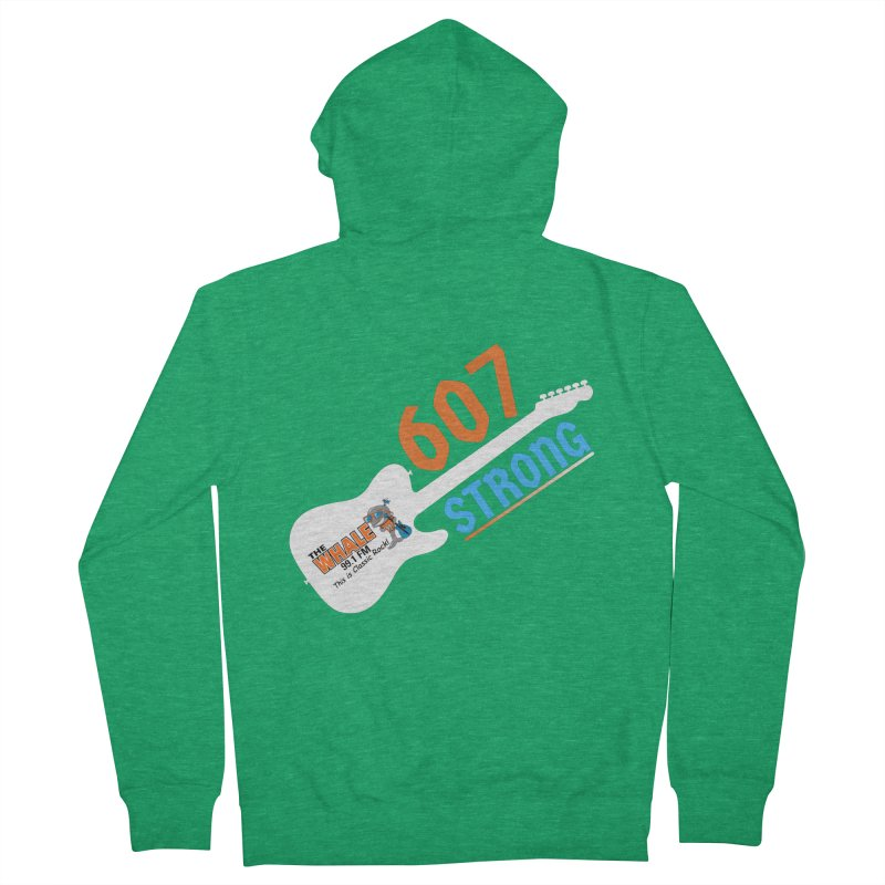 607 Strong - The Whale Men's Zip-Up Hoody by townsquarebinghamton's Artist Shop