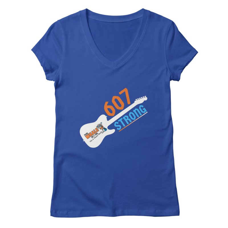 607 Strong - The Whale Women's V-Neck by townsquarebinghamton's Artist Shop