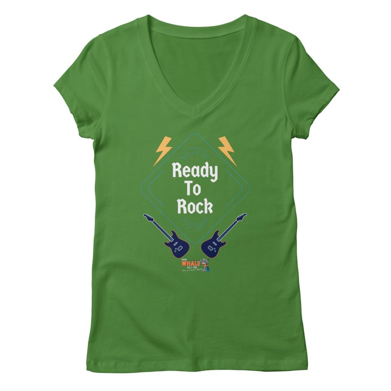 Ready to Rock - The Whale Women's V-Neck by townsquarebinghamton's Artist Shop