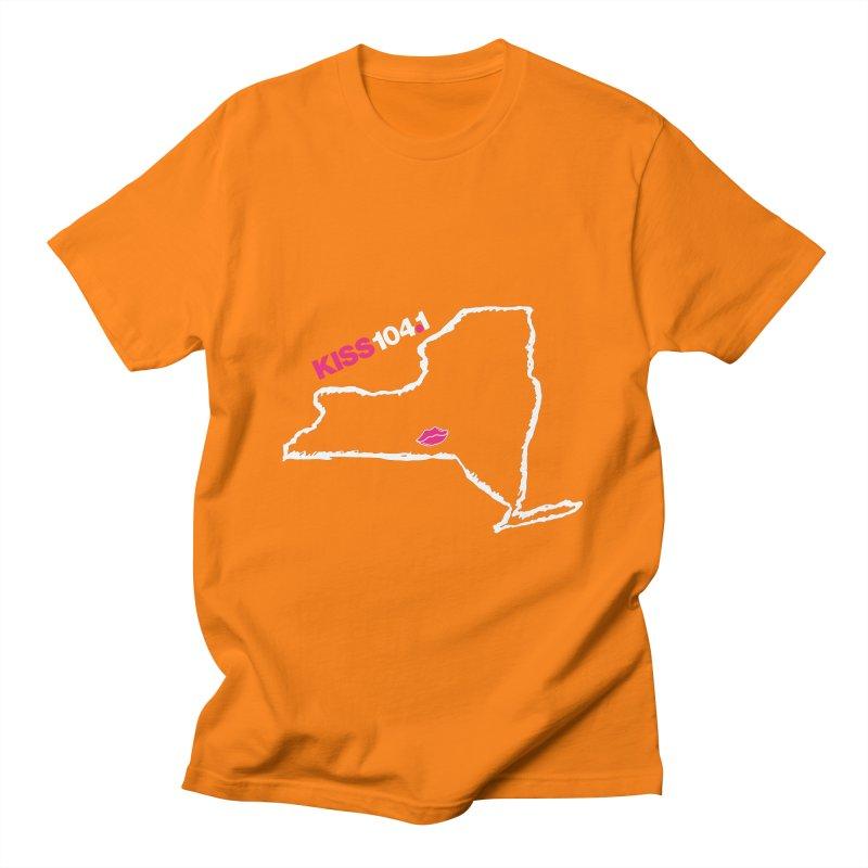 Kiss NYS Outline Men's T-Shirt by townsquarebinghamton's Artist Shop