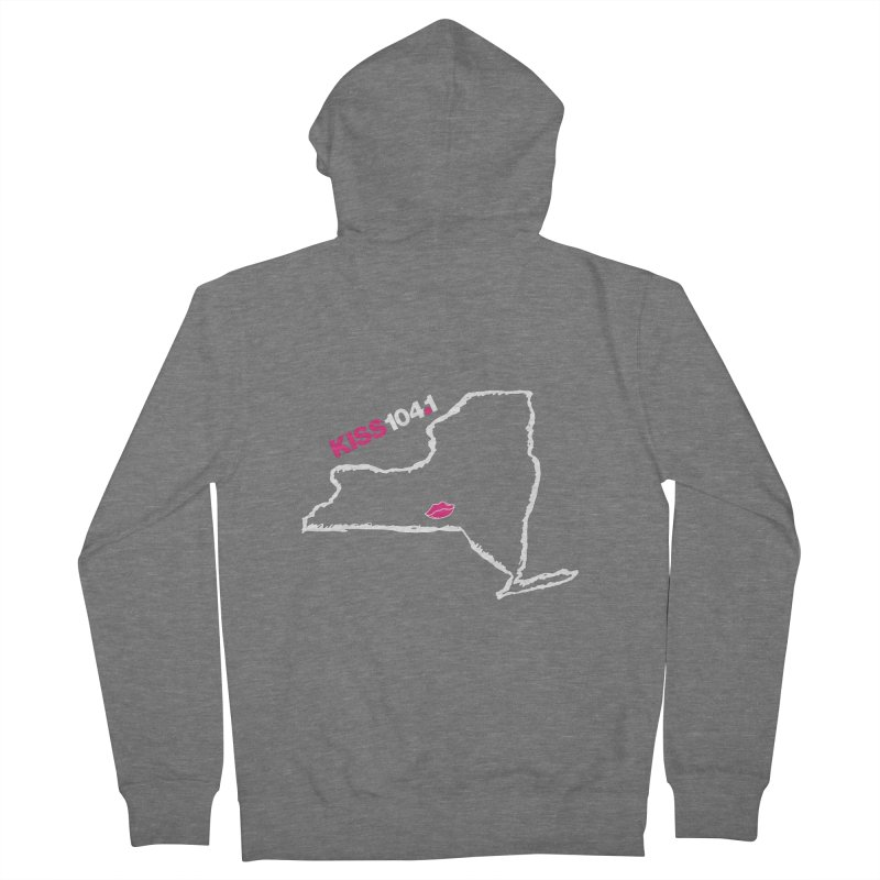 Kiss NYS Outline Women's Zip-Up Hoody by townsquarebinghamton's Artist Shop