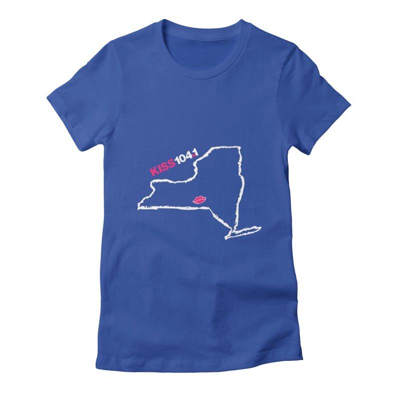 Kiss NYS Outline Women's T-Shirt by townsquarebinghamton's Artist Shop