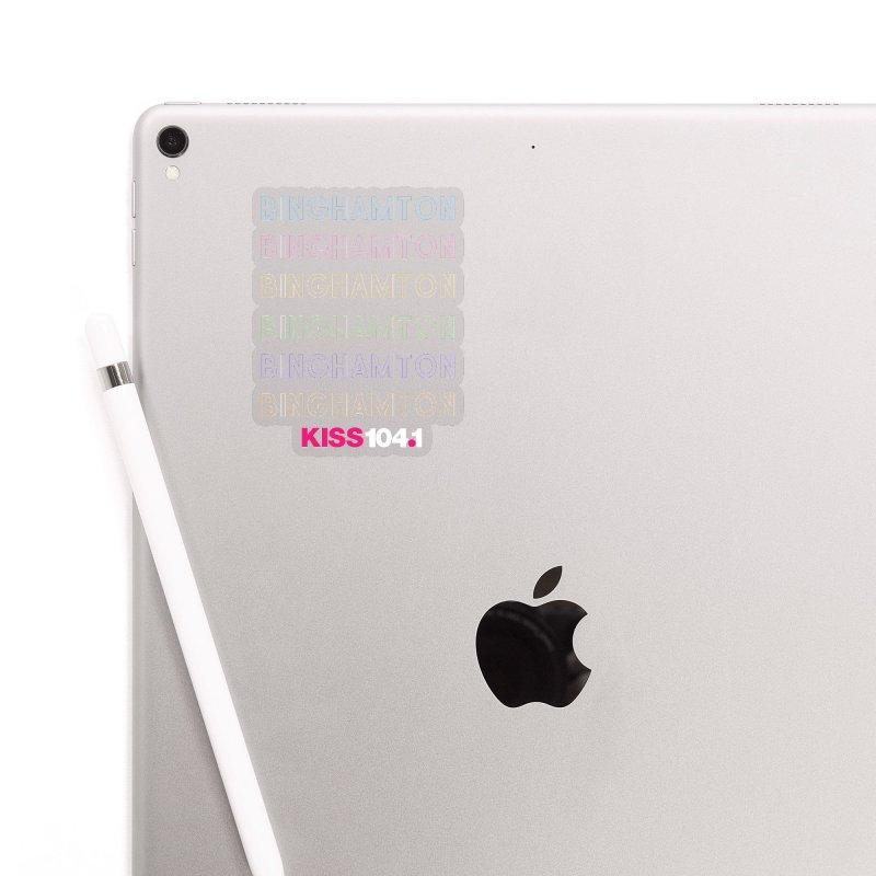 Binghamton Colors - Kiss 104 Accessories Sticker by townsquarebinghamton's Artist Shop