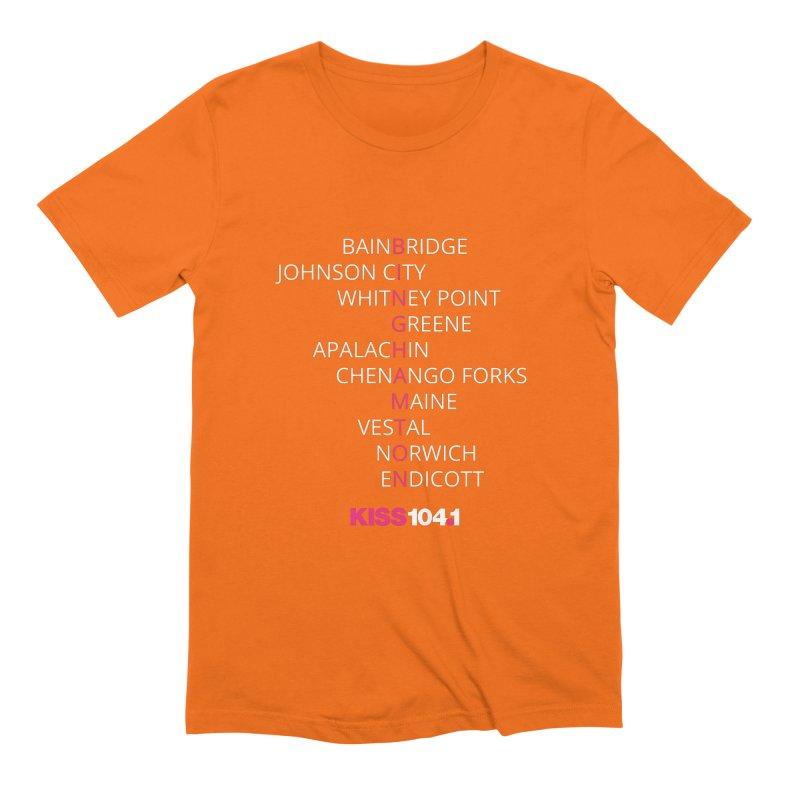 Town Names Crossword - Kiss 104 Men's T-Shirt by townsquarebinghamton's Artist Shop