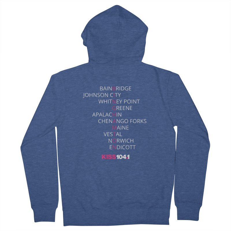 Town Names Crossword - Kiss 104 Women's Zip-Up Hoody by townsquarebinghamton's Artist Shop