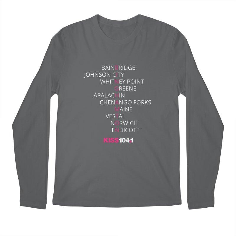 Town Names Crossword - Kiss 104 Men's Longsleeve T-Shirt by townsquarebinghamton's Artist Shop