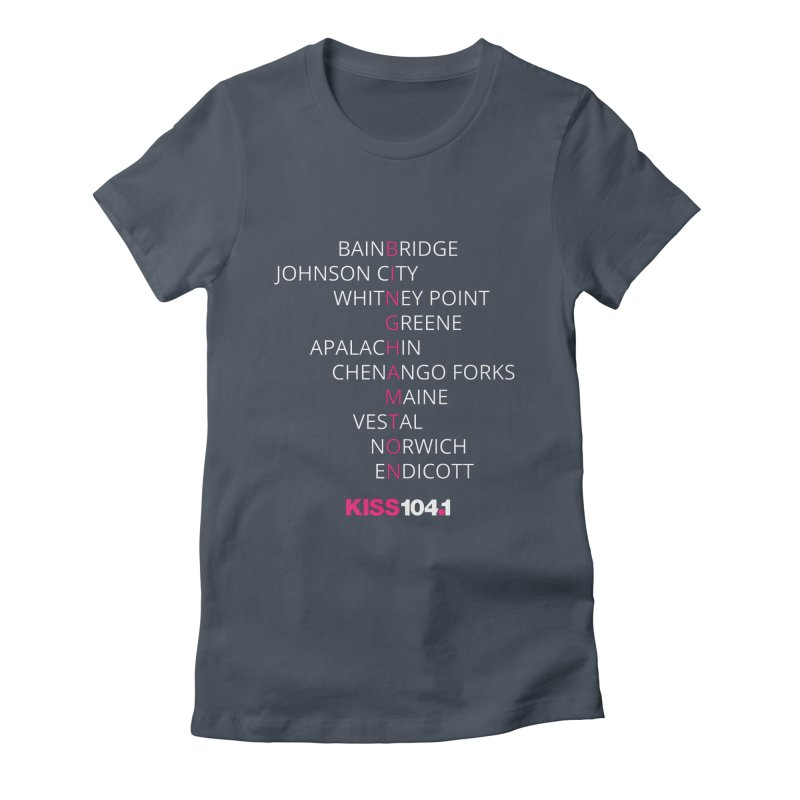 Town Names Crossword - Kiss 104 Women's T-Shirt by townsquarebinghamton's Artist Shop