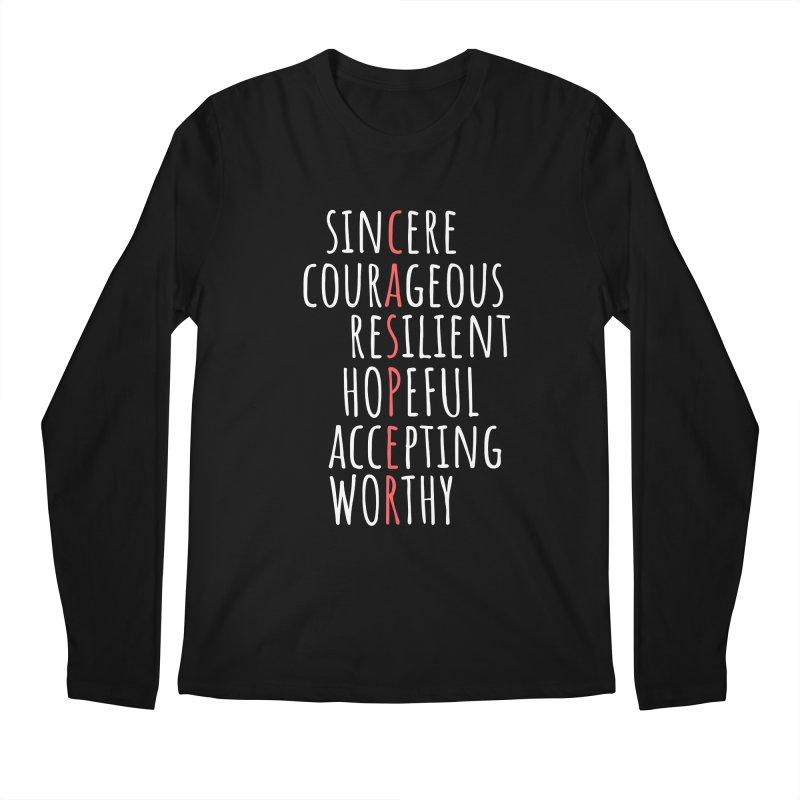Casper Word Chart Shirt Men's Longsleeve T-Shirt by Townsquare Media Casper's Shop
