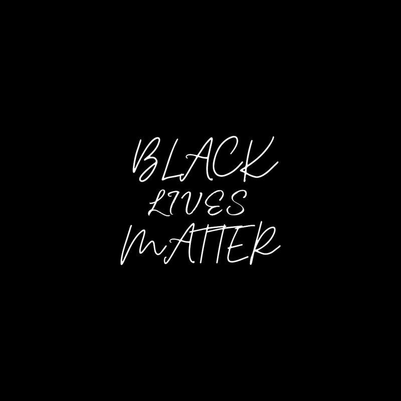 Black Lives Matter Script Face Mask Accessories Face Mask by Townsquare Media El Paso's Shop