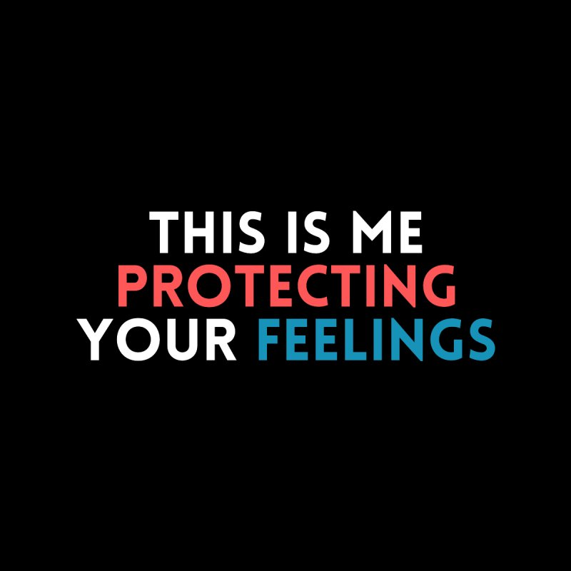 Protecting Your Feelings Facemask Accessories Face Mask by Townsquare Evansville-Owensboro's Shop