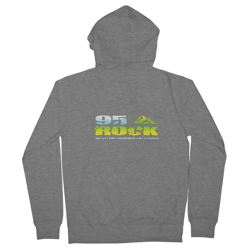 95 Rock Logo Shirt Women's Zip-Up Hoody by townsquaregrandjunction's Artist Shop