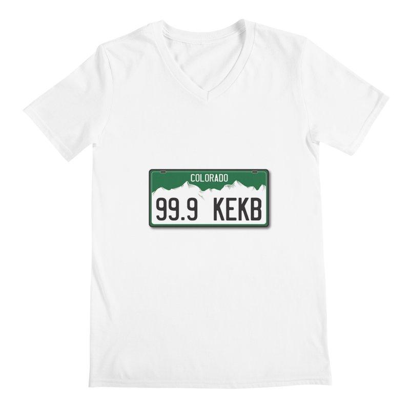 99.9 KEKB Logo Shirt Men's V-Neck by townsquaregrandjunction's Artist Shop