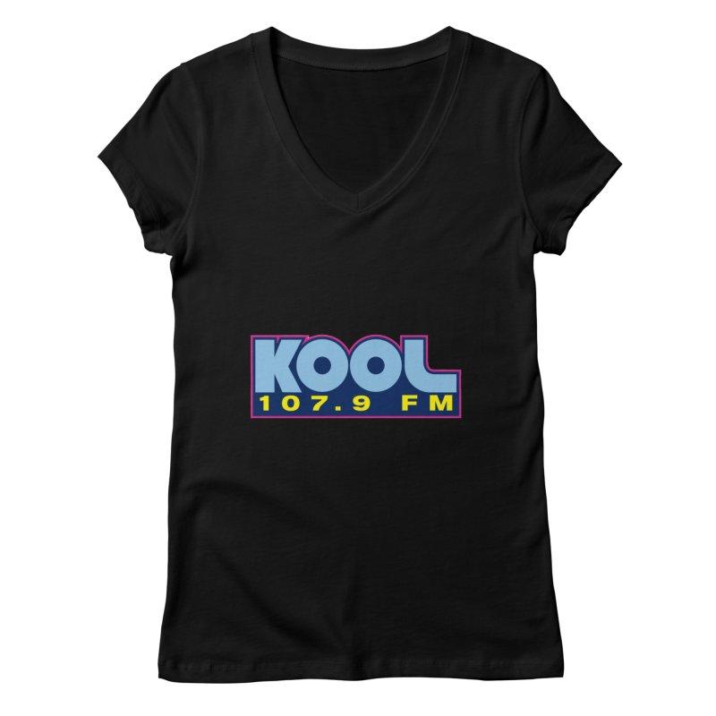 Kool 107.9 Logo Shirt Women's V-Neck by townsquaregrandjunction's Artist Shop