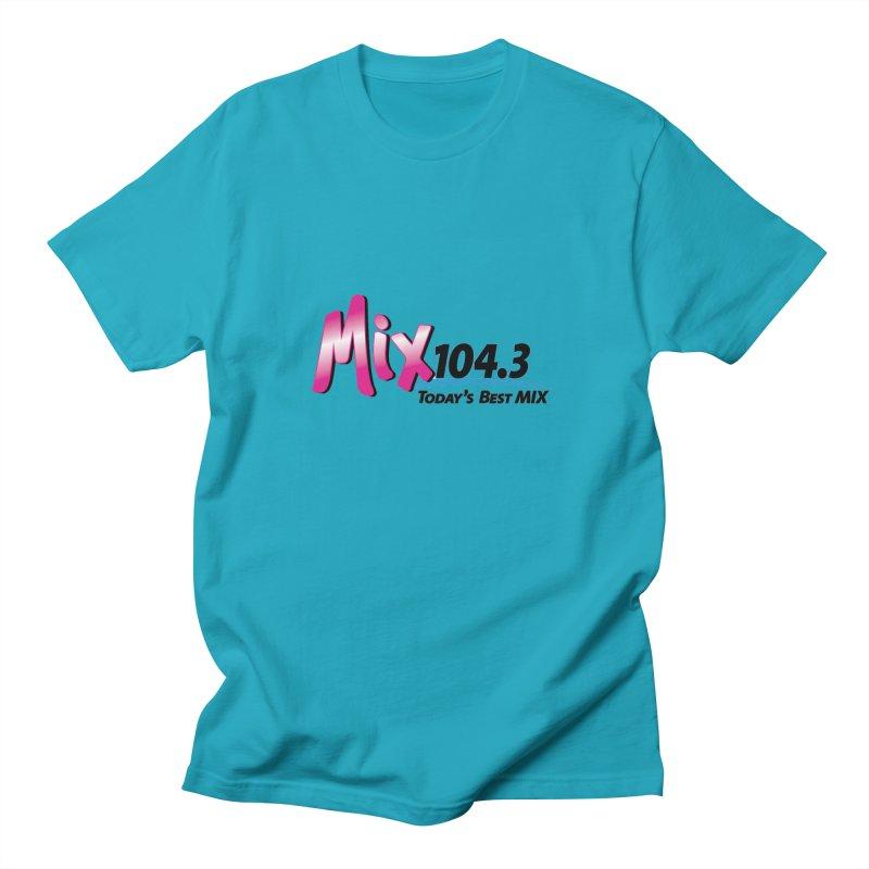 Mix 104.3 Logo Shirt Men's T-Shirt by townsquaregrandjunction's Artist Shop