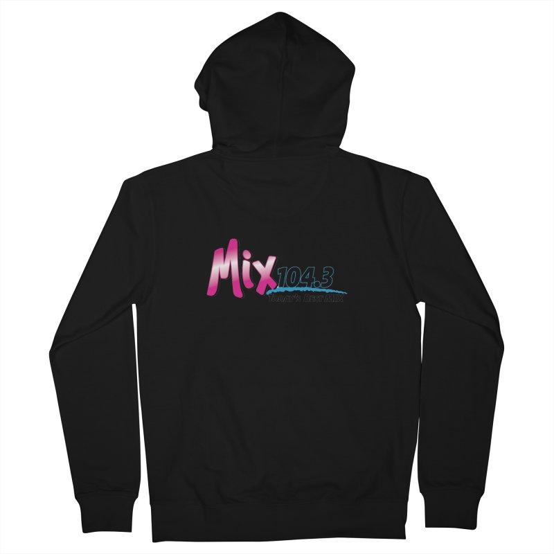 Mix 104.3 Logo Shirt Men's Zip-Up Hoody by townsquaregrandjunction's Artist Shop