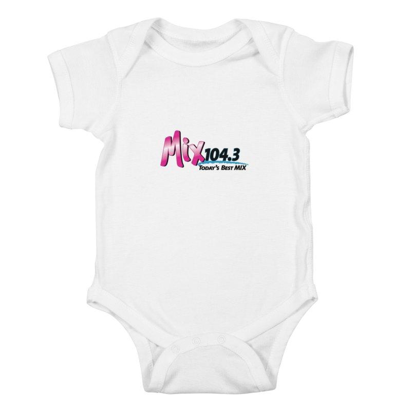 Mix 104.3 Logo Shirt Kids Baby Bodysuit by townsquaregrandjunction's Artist Shop