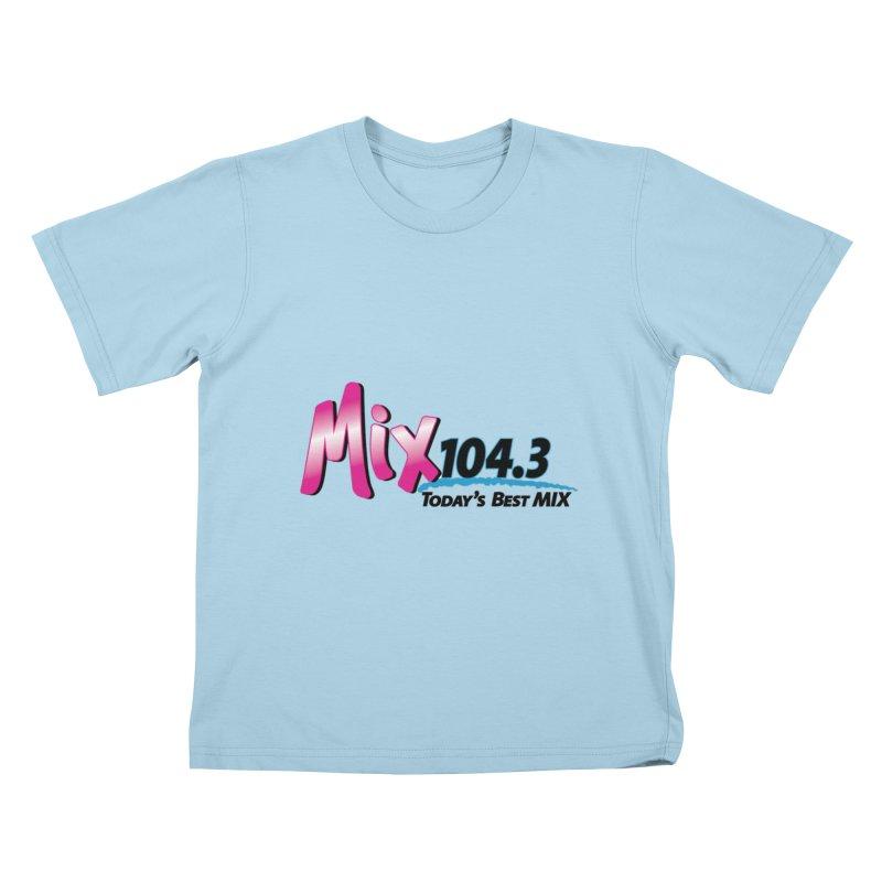 Mix 104.3 Logo Shirt Kids T-Shirt by townsquaregrandjunction's Artist Shop